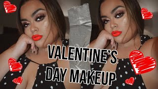 VALENTINES DAY MAKEUP- GET READY WITH ME (GABRIELLAGLAMOUR)
