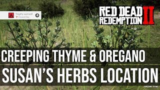 Susan 39 s Herbs Creeping Thyme Oregano Location Errand Boy Trophy Red Dead Redemption 2