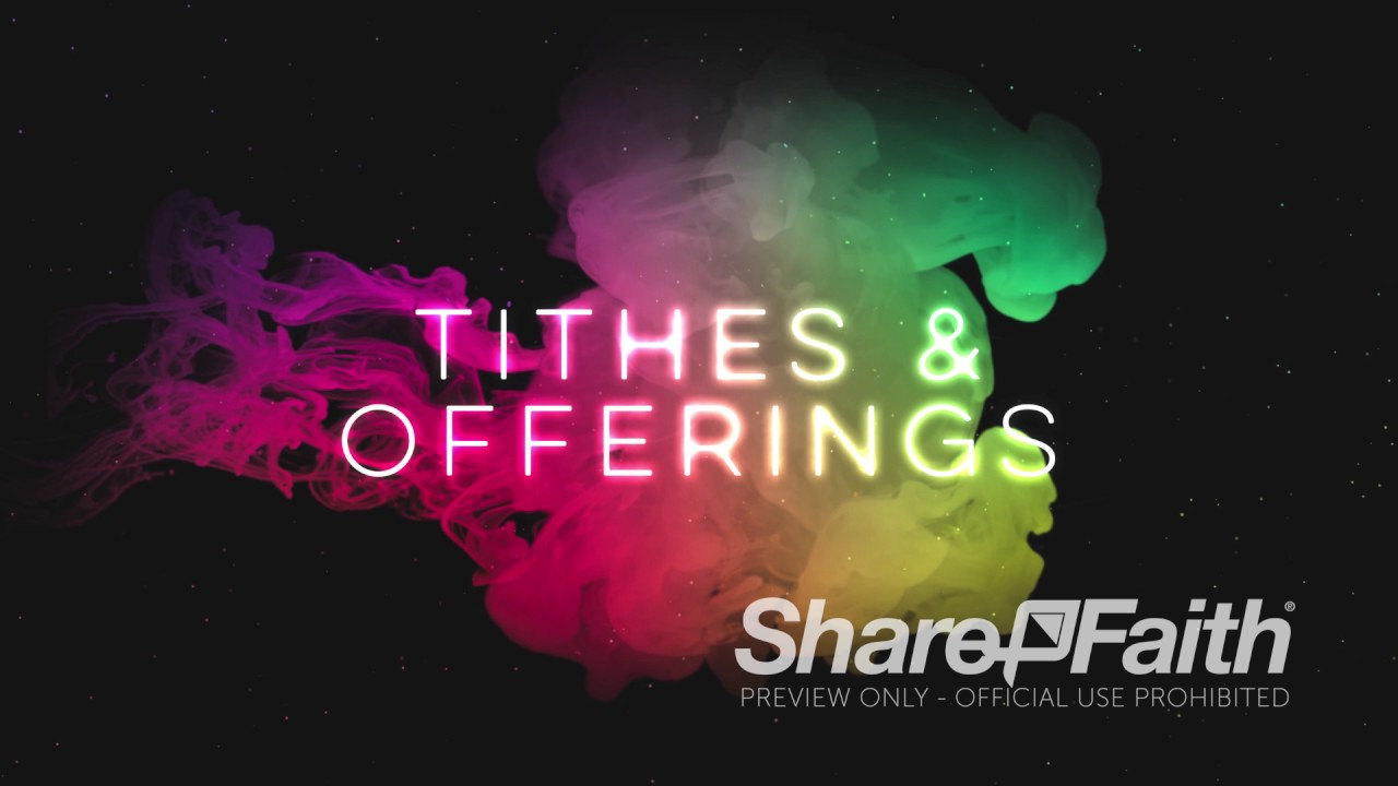 holy spirit pentecost tithes offerings church motion graphics