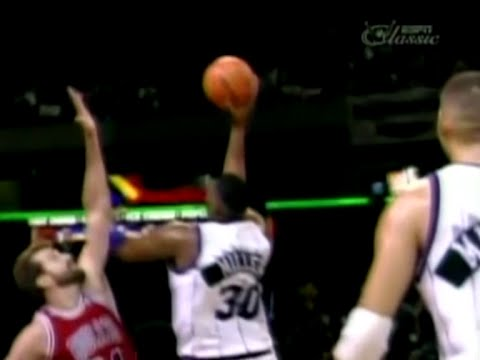 Oliver Miller (14pts/12rebs/5asts) Clutch in W vs. Bulls (1996)