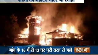 Fire Engulfs Village and Shangchul Temple Built by Pandavas in Himachal Pradesh - India TV