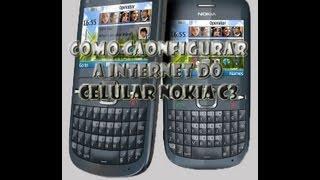 como configurar a internet do celular nokia c3