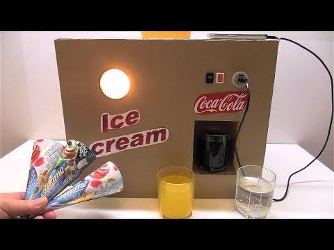 Как сделать холодильник для Кока колы Мороженое Автомат Кока кола Спрайт