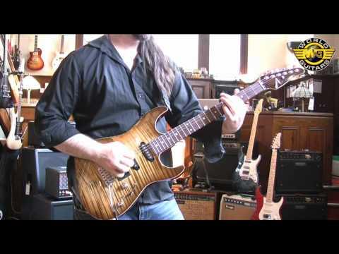 Tom Anderson Drop Top in light tiger eye burst at World Guitars