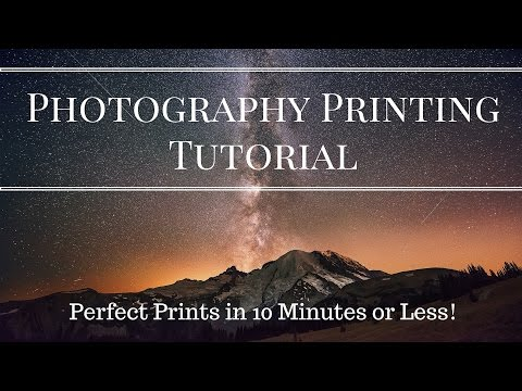 Photography Printing Tutorial - Perfect Photo Prints in 10 Minutes Flat!