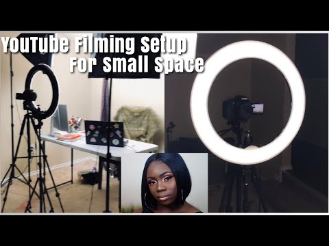 MY REALISTIC AND BASIC FILMING SETUP FOR A SMALL AREA + FILMING EQUIPMENT| Trisha Love