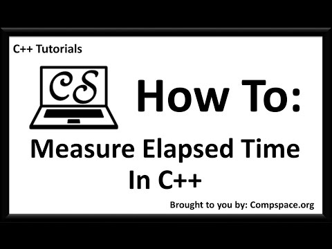 How to measure elapsed time in c++