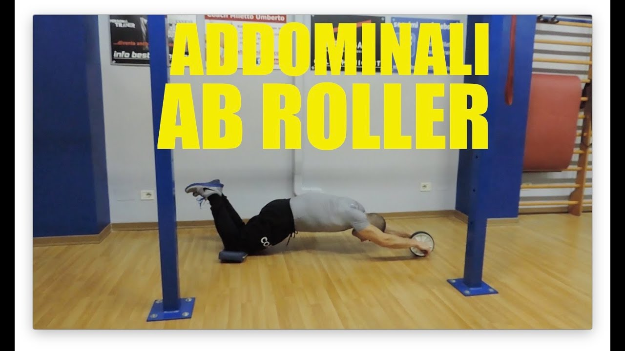 addominali con l 39 ab roller personal trainer 79 youtube. Black Bedroom Furniture Sets. Home Design Ideas