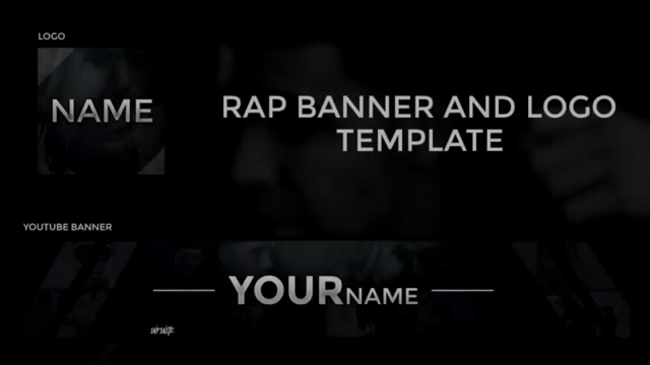 Rap Youtube Banner and Logo Template - YouTube