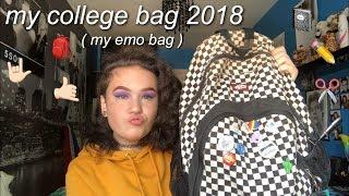 my emo ass college bag 2018 🎒😛