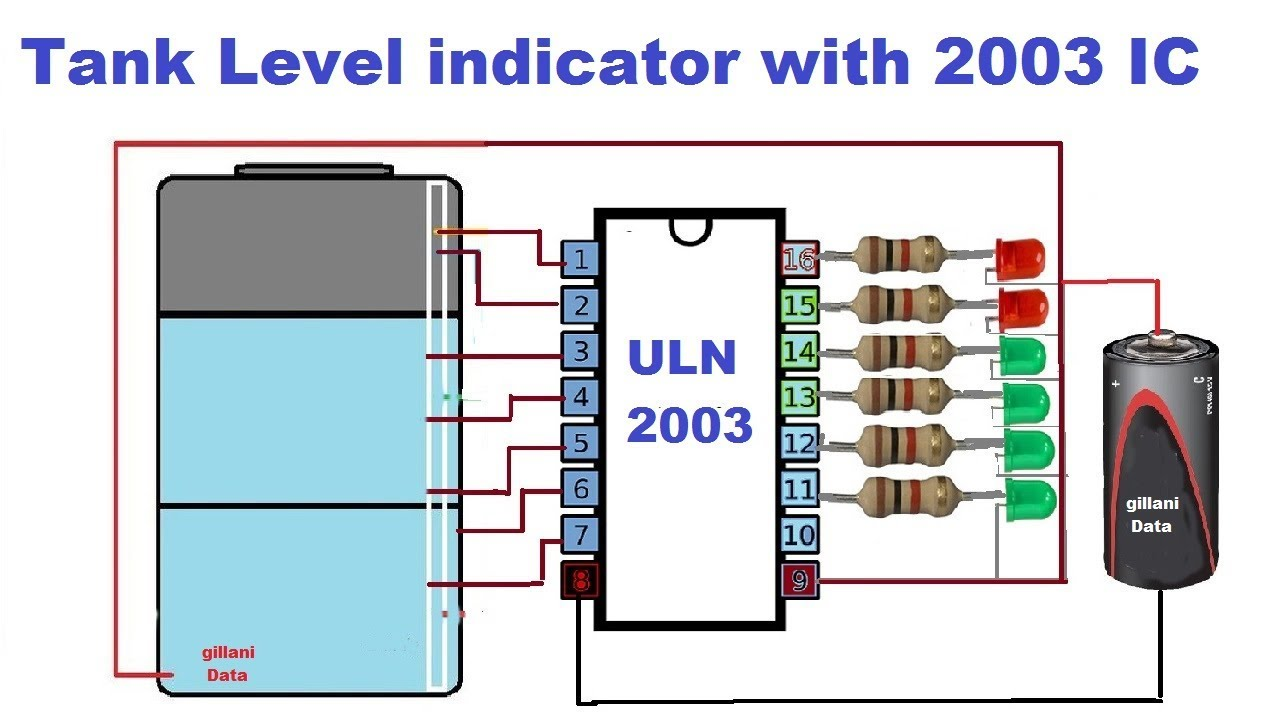 Water Level Indicator Using Ic 2003