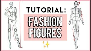 Pt 1 // How to Draw : Fashion Figures For beginners !! 🌹 Fashion illustration   GIRLY SKETCHING
