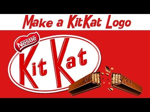 How To Make A KitKat Logo , Photoshop Tutorial