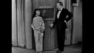 What's My Line CBS-TV November 1964 ReikoYukawa 湯川れい子 Columnis...
