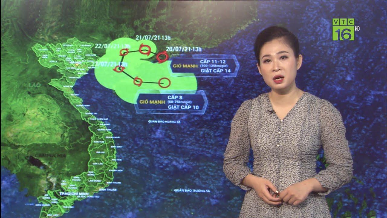 Dự báo thời tiết 21/07/2021    Bão số 3 Cempaka tiếp tục mạnh lên   VTC16   Thông tin thời tiết hôm nay và ngày mai