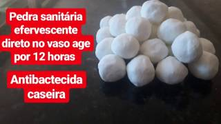 Faça pedra sanitária efervescente direto no vaso com 4 ingredientes