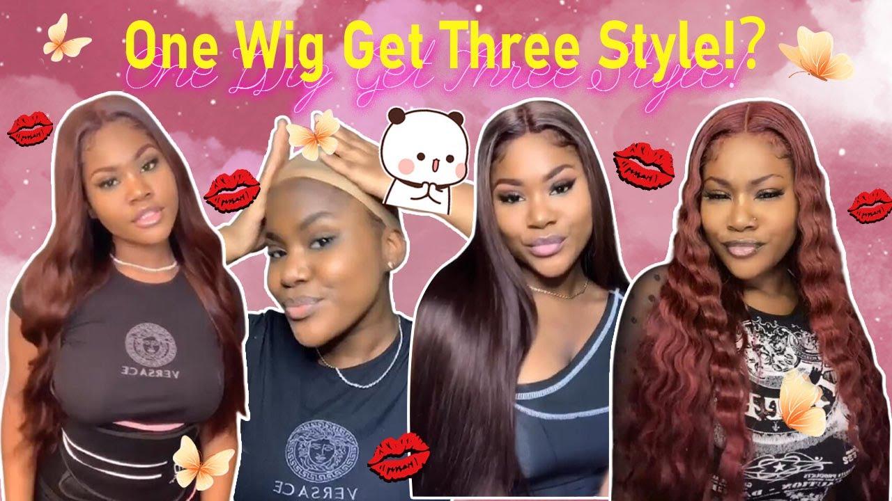 😯How To: Dye Perfect Red Burgundy Hair No Bleach?Glueless 5x5 HD Lace Closure Wig ft.@Ula Hair