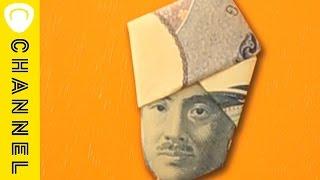 ①千円札でつくる ターバン野口 ちょっとした遊び心が面白い! お札アー...