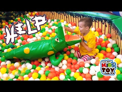 Thumbnail: Entertainments for children trampolines, shooter games Games and Activities for Kids. Kids Play Area