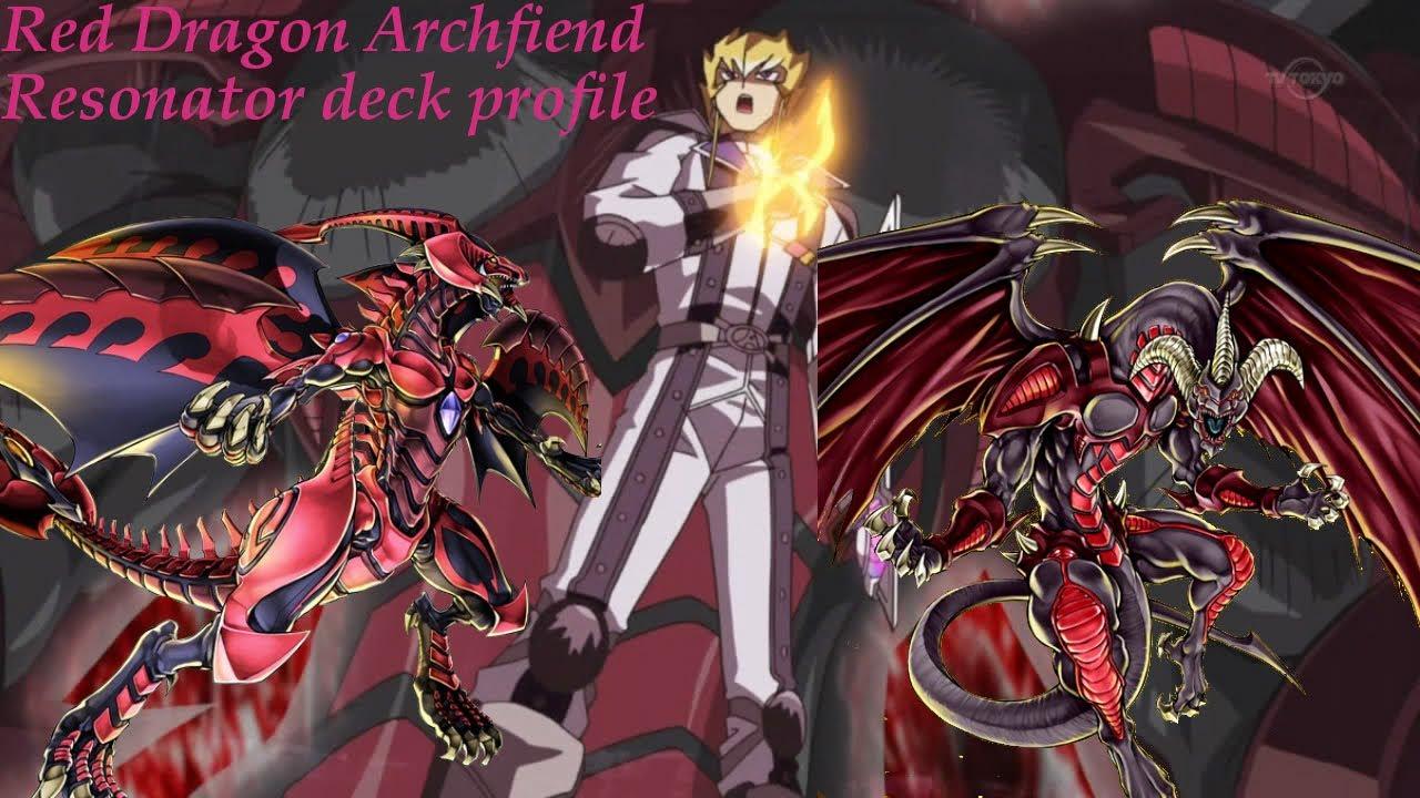 red dragon archfiend resonator deck profile youtube
