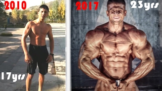 Afghan Body Transformation 2010 to  2017!!!