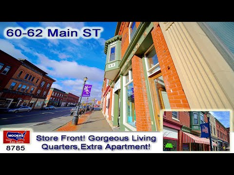 Maine Downtown Commercial Building | 60-62 Main ST Houlton ME MOOERS REALTY # 8785