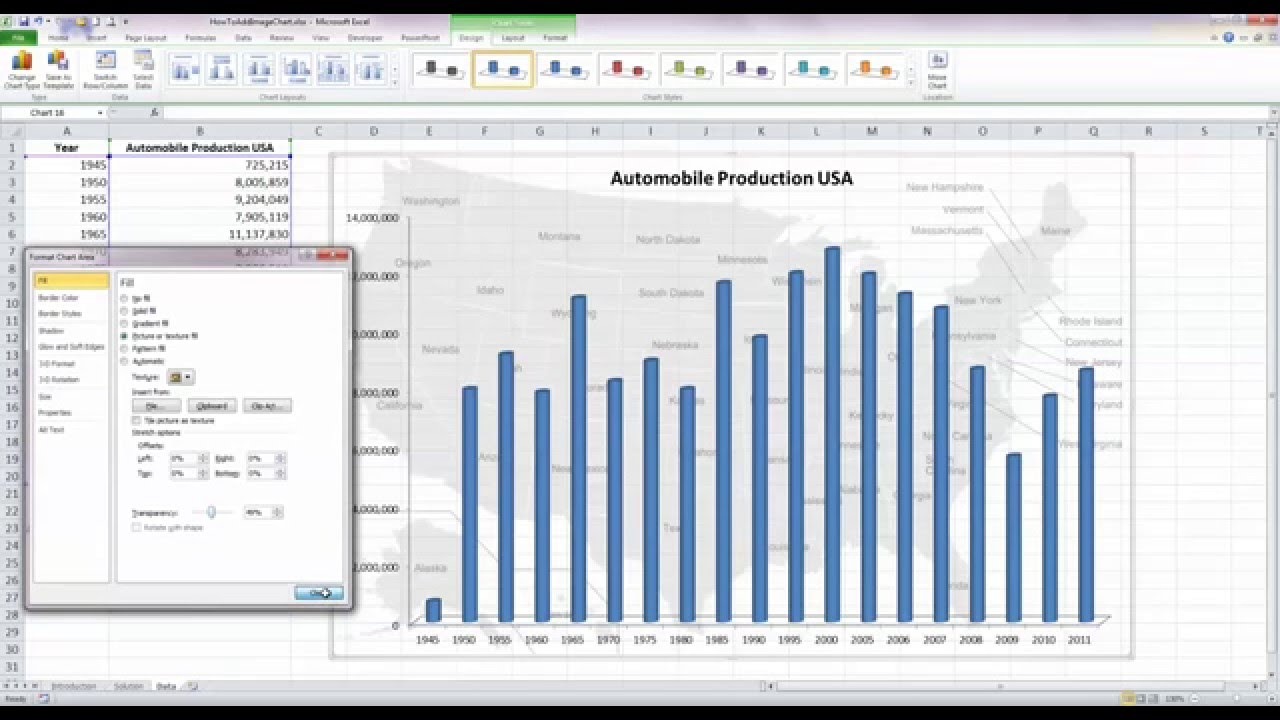 Background image excel - Add An Image As A Background In Excel 2010