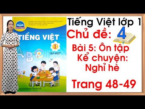 Tiếng việt lớp 1 sách chân trời sáng tạo - Chủ đề 4 - Bài 5  Ôn tập và kể chuyện  Tiếng Việt lớp 1