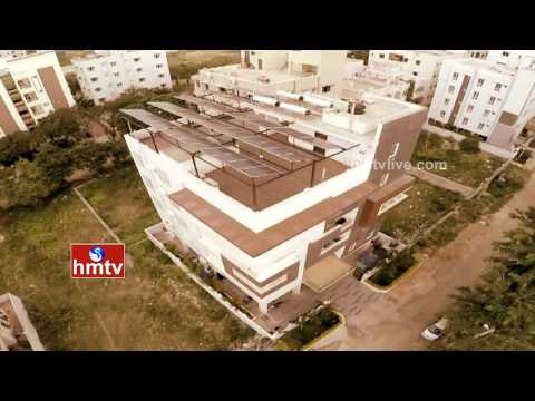 Solar Powered Apartment in Hyderabad | Eco Green Building | Kondapur | HMTV Special Focus