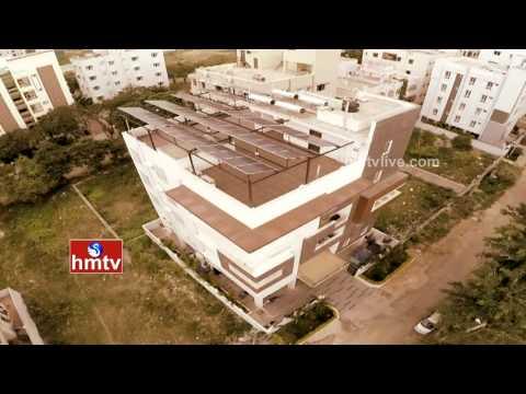 Solar Powered Apartment in Hyderabad | Eco Green Building | Kondapur | HMTV Special Focus