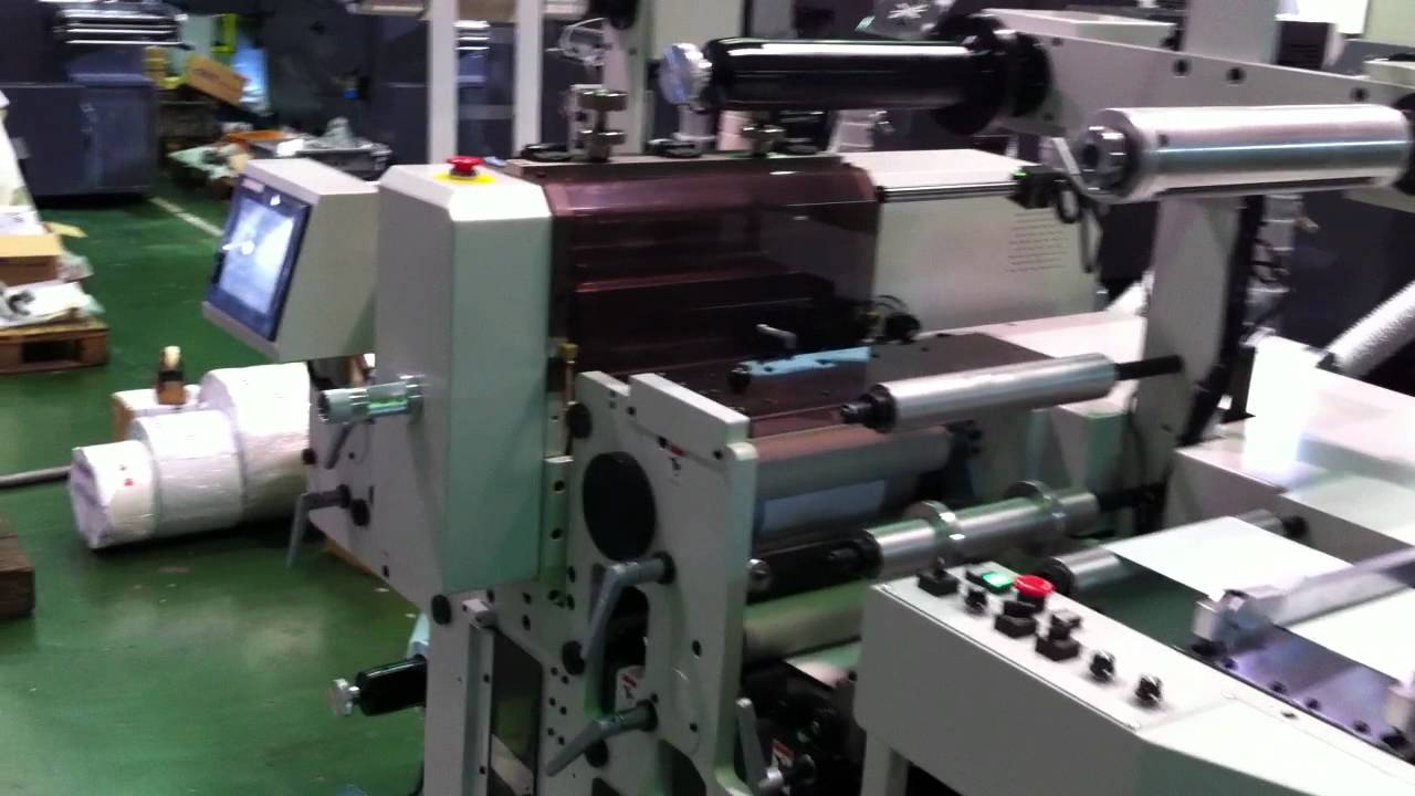 Iwasaki Semi Rotary Die Cutting Machine Md250 Youtube Bobst Cut