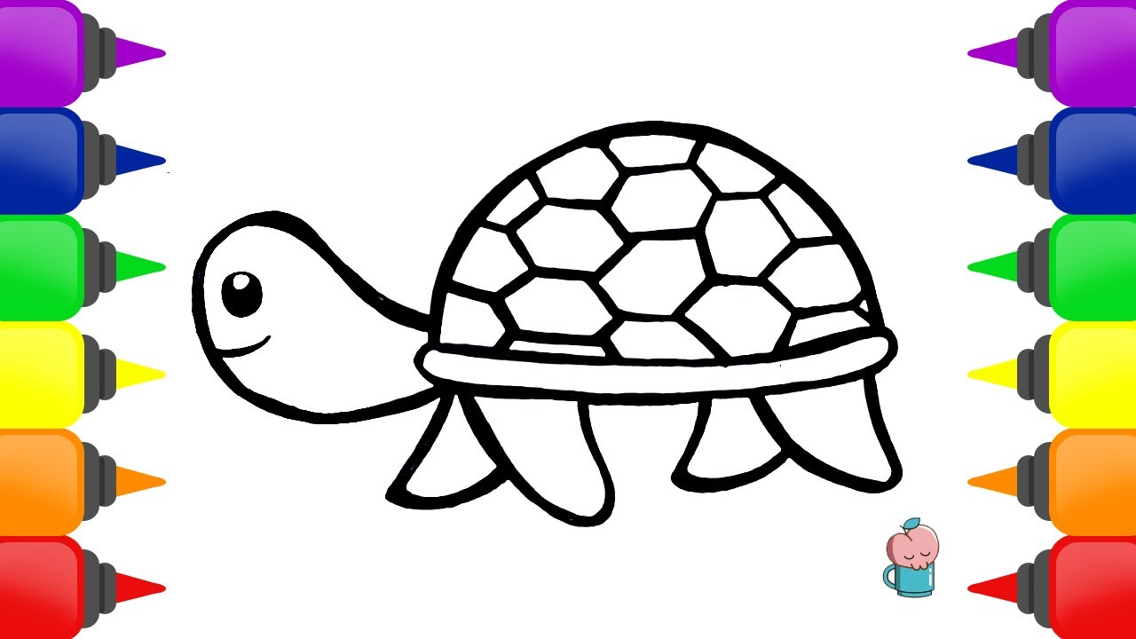 Drawing And Coloring TURTLE Easy For Children Painting For Toddler