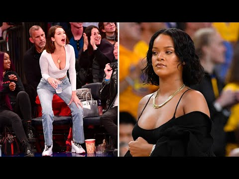 FUNNY CELEBRITIES REACTIONS IN SPORTS GAMES