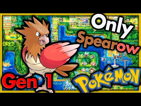 Can I Beat Pokemon Red with ONLY Spearow? 🔴 Pokemon Challenges ► NO ITEMS IN BATTLE