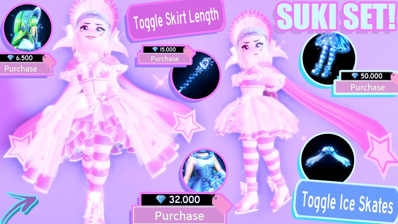 The Suki Set Is Out Princess Starfrost Collection Ice Skates Royale High Update 2019 - roblox royale high winter boots how to get free robux on