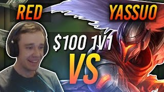REDMERCY VS YASSUO | $100 1v1 SHOWDOWN!! - League of Legends