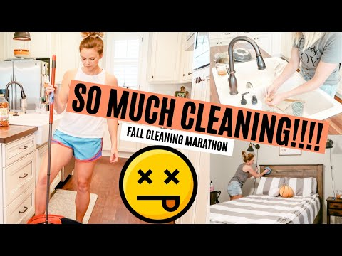 FALL CLEAN WITH ME MARATHON 2019 // OVER 2 HOURS OF EXTREME CLEANING MOTIVATION // Amy Darley