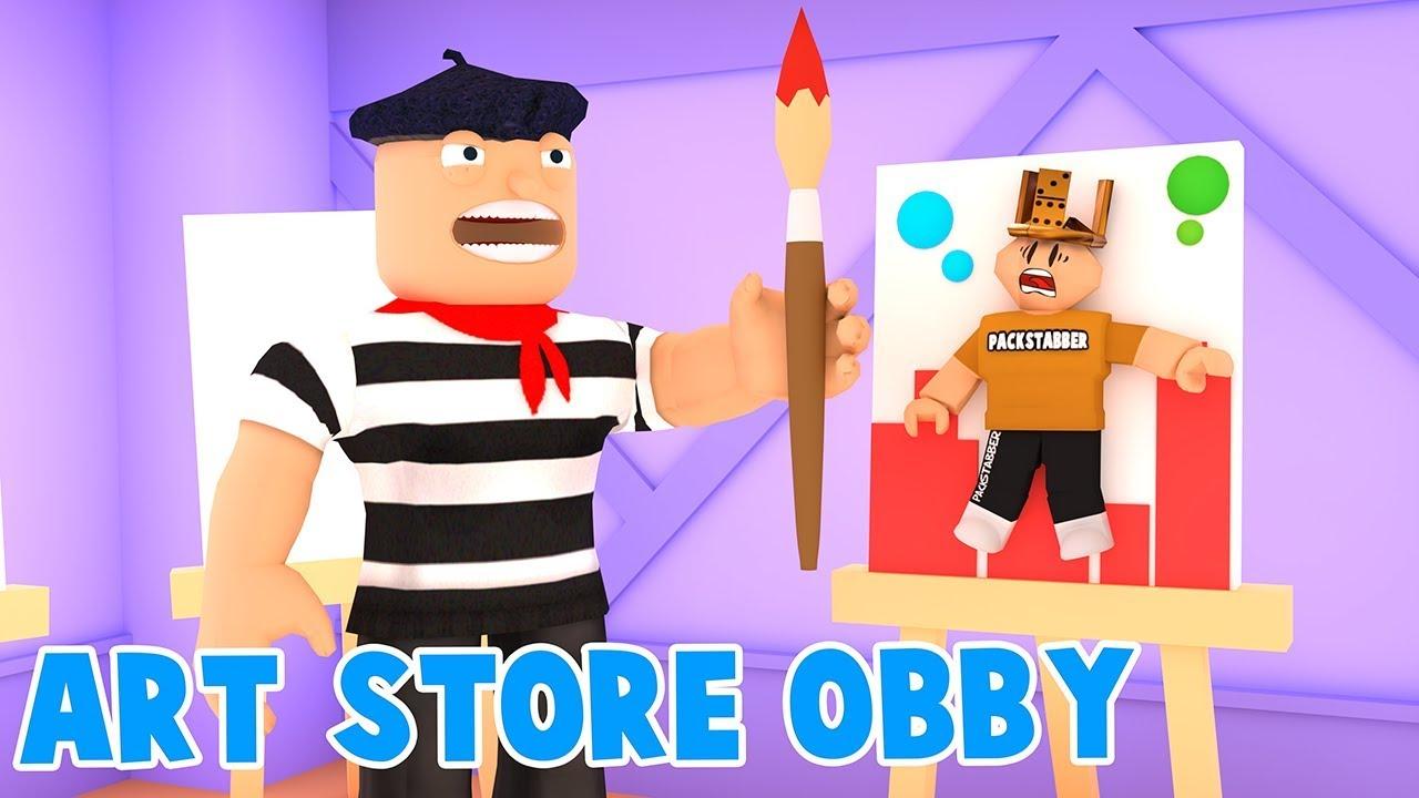 Roblox Escape The Art Store Obby Youtube