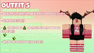 6 Roblox Christmas Outfits Ideas