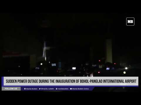 Sudden power outage during the inauguration of Bohol Panglao International Airport