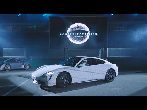 Porsche Taycan European Premiere on the 24 Hours of Le Mans Race Track