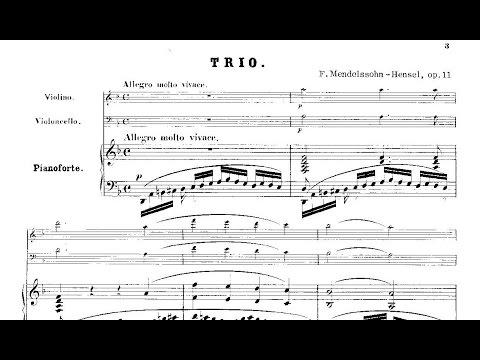 Fanny Mendelssohn-Hensel: Piano Trio Op. 11 (1840)