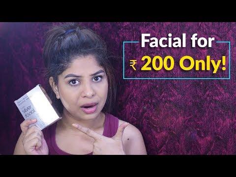 Facial at home   Aroma Magic Silver Facial Kit Review