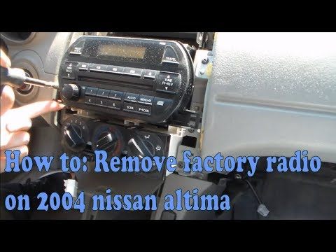 How To: Remove Factory Radio On 2004 Nissan Altima