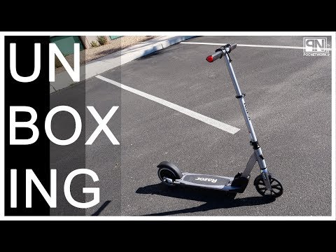 Razor E Prime Electric Scooter - Unboxing - Poc Network