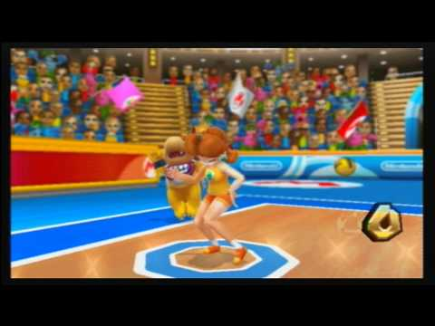 mario sports mix walkthrough part  normal mode dodgeball mushroom cup  youtube