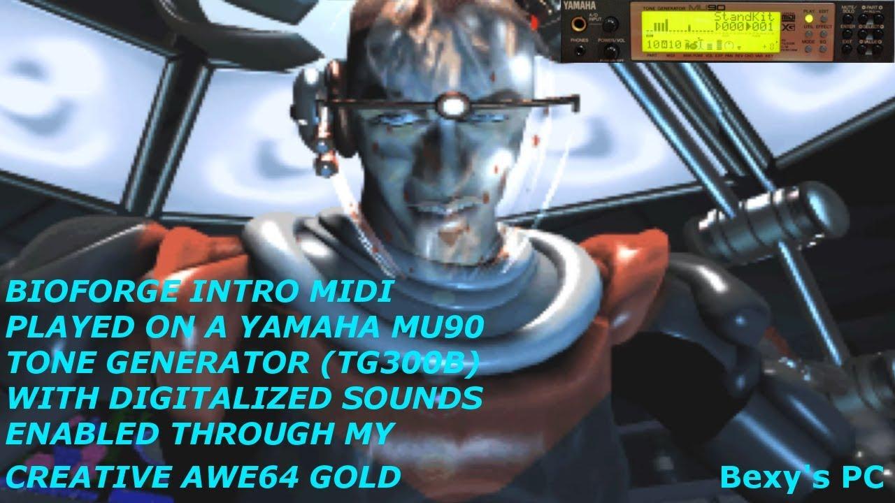 BioForge Intro: MIDI MUSIC Through Yamaha MU90 Tone Generator