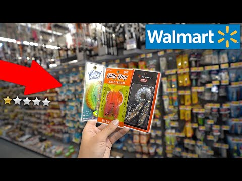 WORST Fishing Lures At Walmart!! (Fishing Challenge)