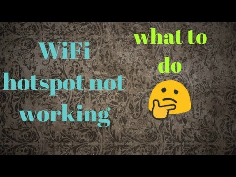 WiFi hotspot not working / wifi hotspot not turning on by