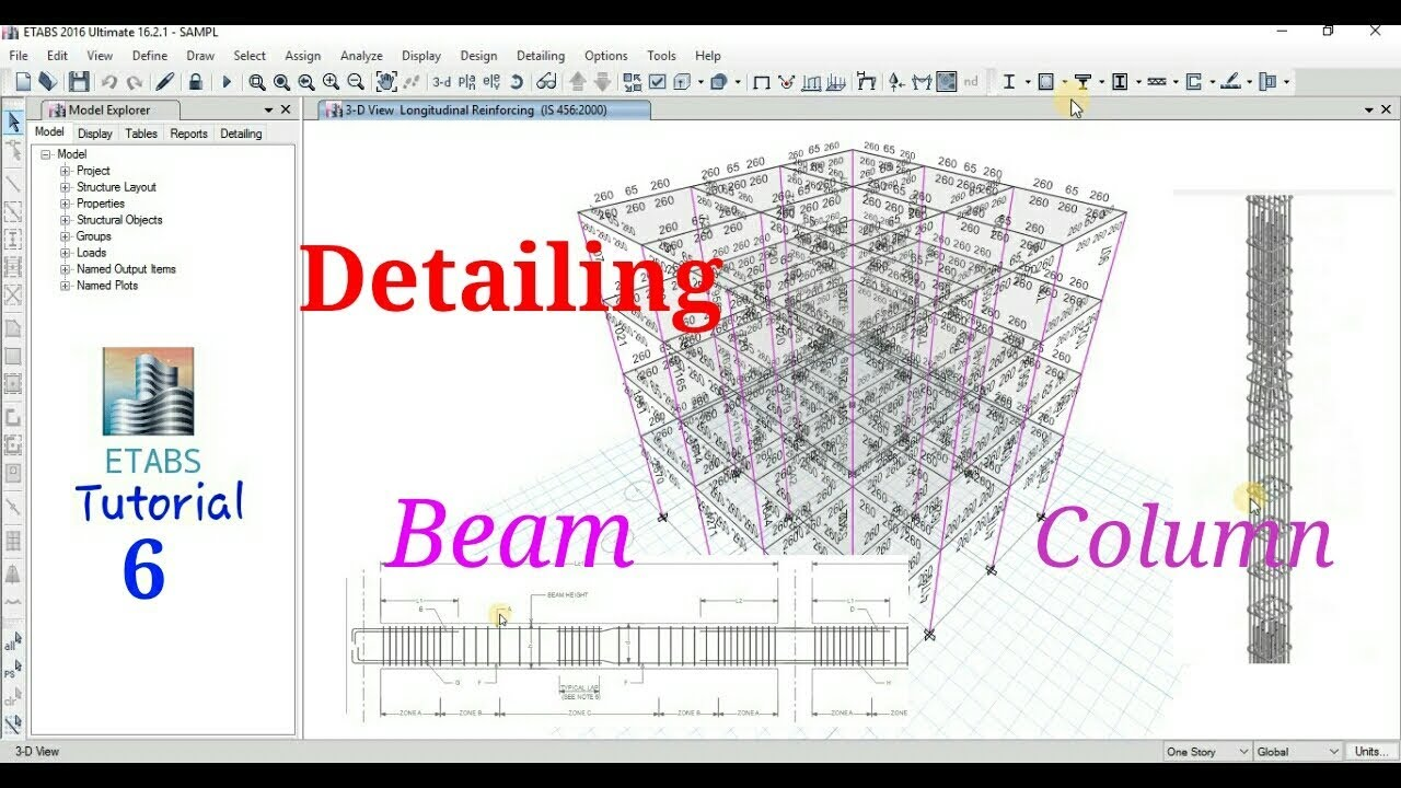 Etabs Beam and Column Design and Detailing Easy Explaination